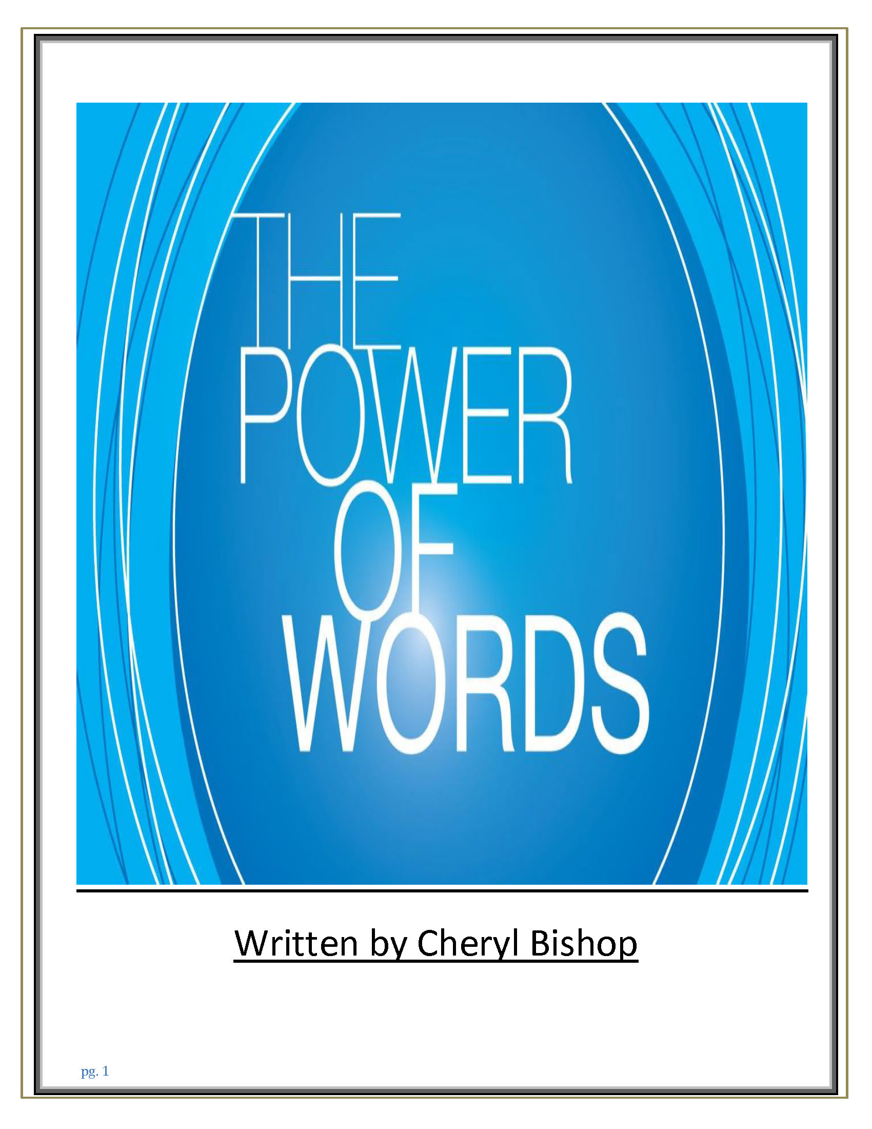 The Power of the Words You Speak